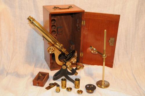 RARE Antique Microscope Joseph Long Brewer