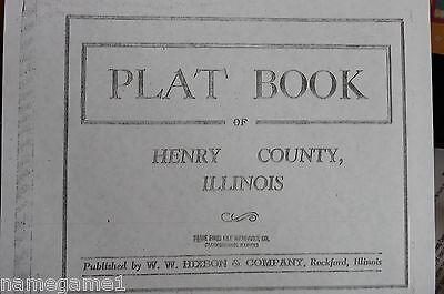 GENEALOGY ILLINOIS PLAT MAP HENRY COUNTY Pre-1939