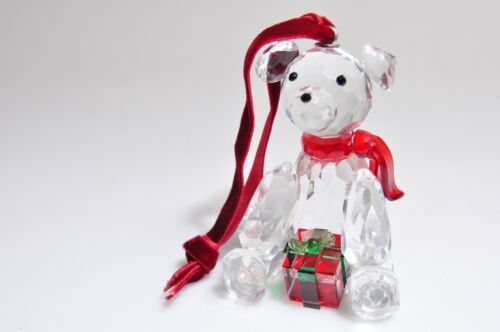 Crystal Christmas Teddy Bear Ornament