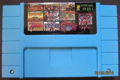 49 in 1 SNES Super Nintendo Multi Cart Game - Metroid Zelda Mario World Gundam!, usado comprar usado  Enviando para Brazil