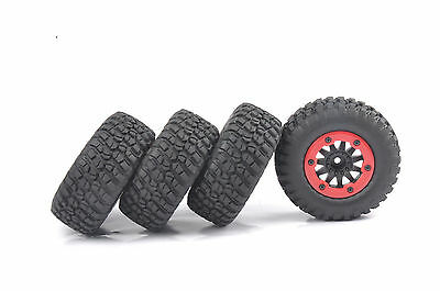 4X Bead-Lock Tire Wheel Rim For 1/10 Scale RC Short Course Car TRAXXAS Slash