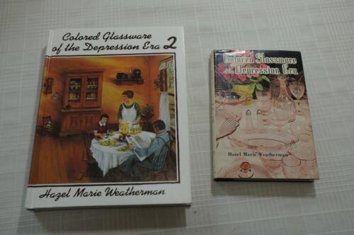 Colored Glassware of the Depression Era  Hazel M. Weatherman Vol 1 & 2 Hard Cove