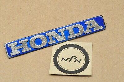 NOS Vintage Honda Fuel Tank Decal Badge Orange /& Silver Glitter