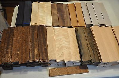 "Fingerboard veneer assortment - 180+pcs. 1 1/2""x8""       IC15"