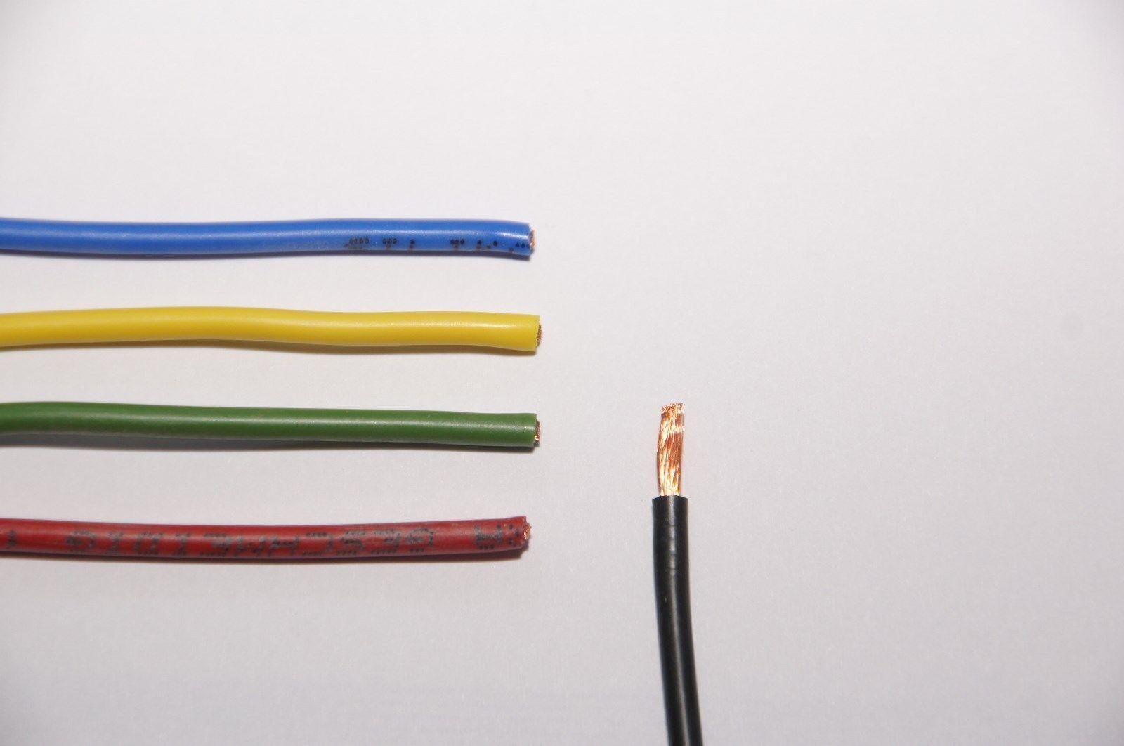 Silikonkabel hochflexibel, extra geschmeidig, 0,5mm², 0,75mm² & 1mm², je 1m
