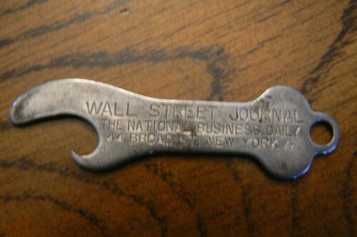 Vintage Advertising Wall Street Journal Bottle Opener New York 4 Key Chain