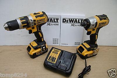 DEWALT DCK250M2 18V XR DCD795 COMBI & DCF886 IMPACT DRIVER 4 AH DS300 TOUGH CASE