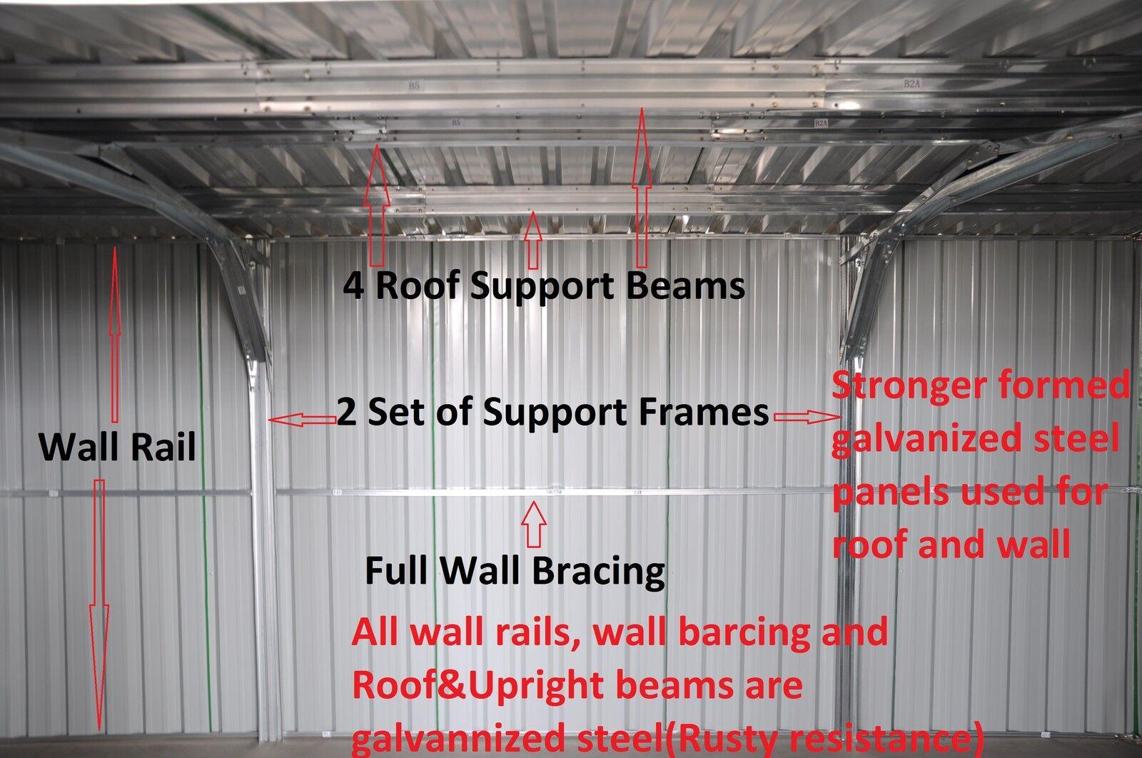 Details about Garden Shed 4 2x3 4M, Storage Shed, Garage Shed, Steel Sheds