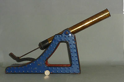 Uralte riesige Blech Kanone 50cm für Korken & Kugeln - Tinplate Gun for Corks