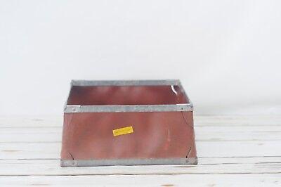 Industrial Metal / Fiberglass Box Vintage Box Vulcanized Fibre Box