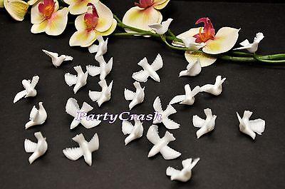 """50 White Plastic 1"""" Dove Bridal Confetti Wedding Decoration Table Scatter Favor"""