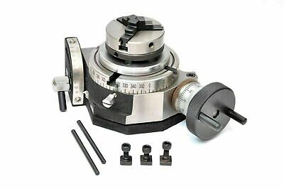 4 Inches Tilting Rotary Table With 65mm Lathe Chuck For Milling Machine