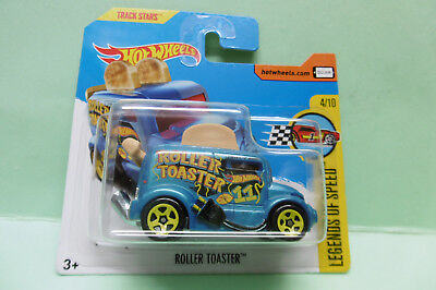 GRILLE PAIN ROLLER TOASTER roues jaune HOT WHEELS HOTWHEELS NEUVE 1/64 3 inches