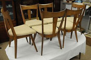 vtg mid century heywood wakefield dining room set table 6