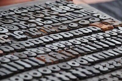 Letterpress Wood Printing Blocks 354pcs 1.06 Tall Wooden Type Woodtype Alphabet