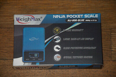Weighmax Blue Digital Ninja Pocket Scale Nj 800 New 800g X 0.1g