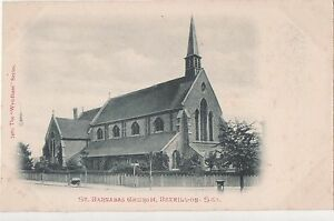 POSTCARD-BEXHILL-ON-SEA-St-barnabas-Church