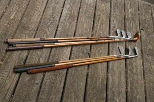 7 Club Antique Vintage Hickory Shaft Set Ready For Play