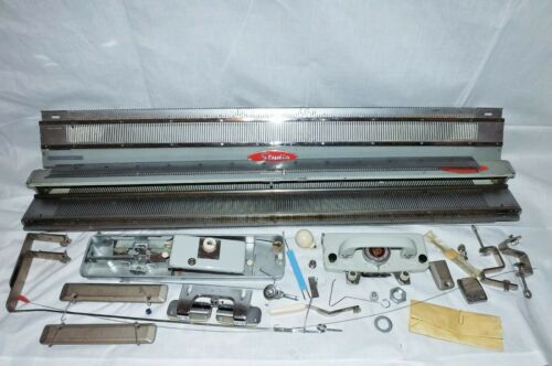 Studio Silver SK8-200 Knitting Machine w/ Studio Ribber &  Carriage Attachment