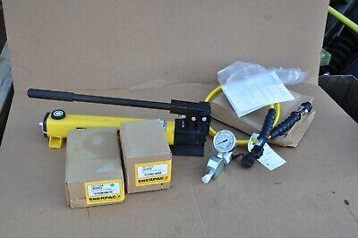 Enerpac 10 Ton Hydraulic Cylinder Set Rc102 Rc104 P392 Pump Ga45gc Hc7206