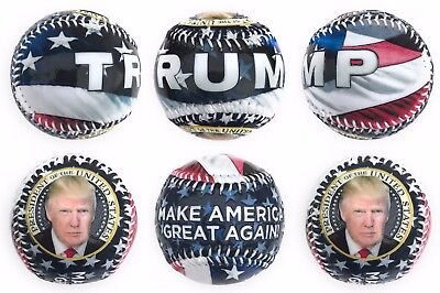 President Donald Trump Gloss Embossed Collectible Souvenir Baseball