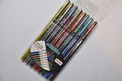 Pentel Hybrid Dual Metallic Gel Roller Pen 8 Color -