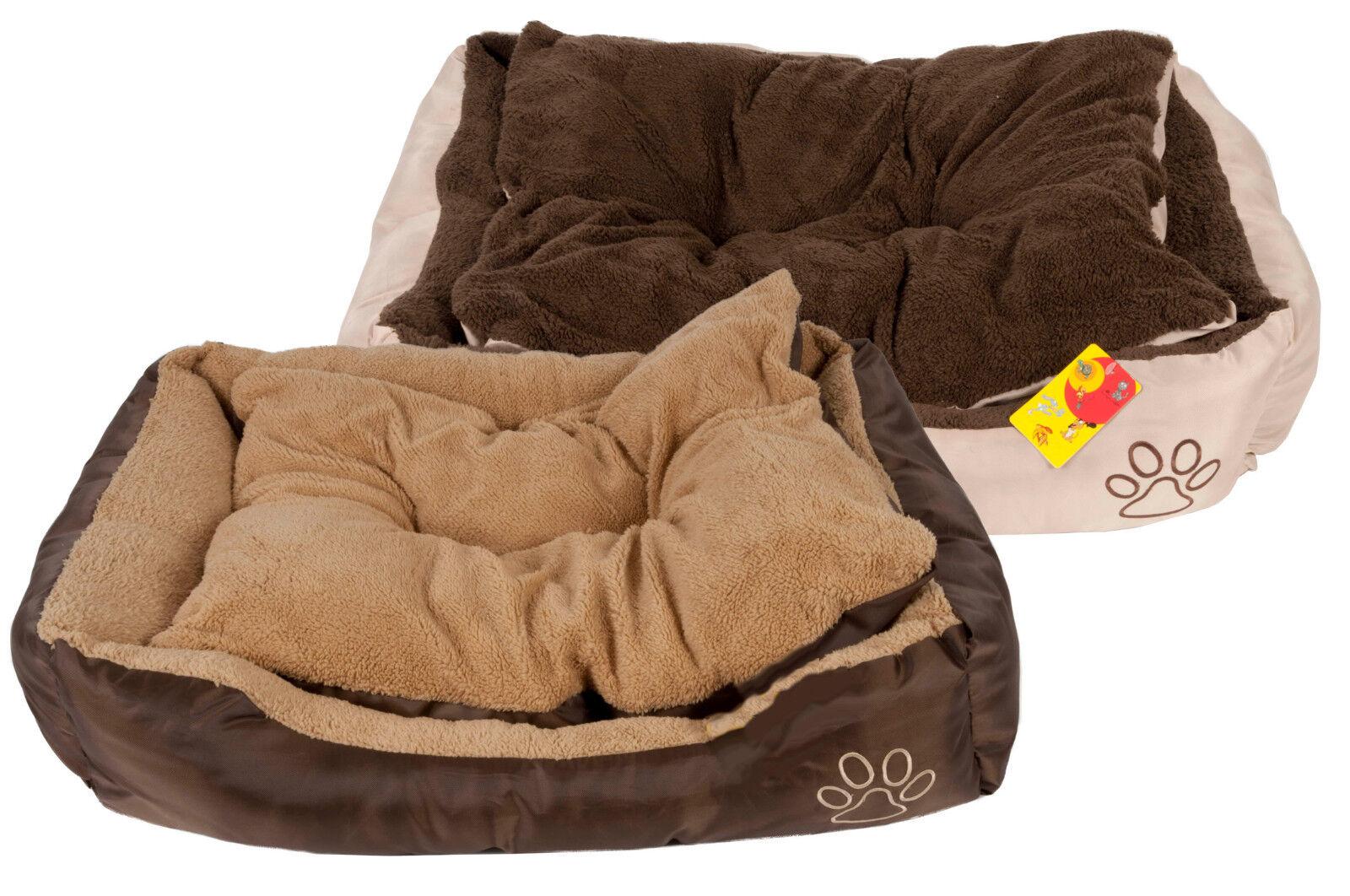 Hundebett S M L XL Kissen Korb Katzenbett Sofa Decke Matte Tierbett Schlafplatz