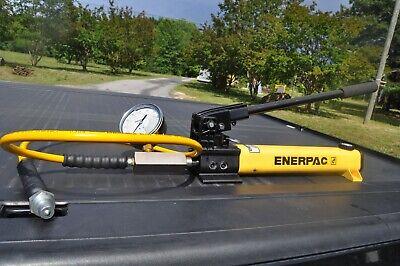 Enerpac P392 Hydraulic Hand Pump Ga2 Gf20p Gauge And Hc7206