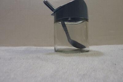 Vtg Corelle GEMCO Country Blue Condiment Jar Sugar Bowl Relish Jam Jar w/ Spoon