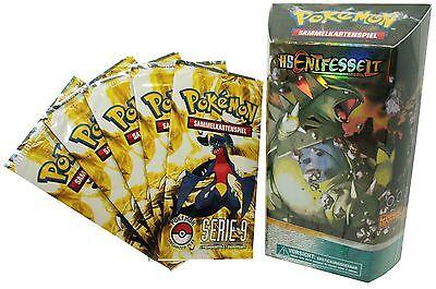 Pokemon - 1 Themendeck-Chaoskontrolle HS Entfesselt + 5x Serie 9 Booster-Deutsch