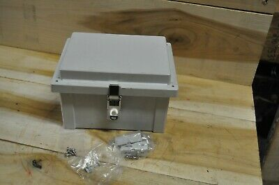 Fibox Arca Nema 4x Polycarbonate Enclosure Ss Latch 8x6x4 Mounting Harware Inc