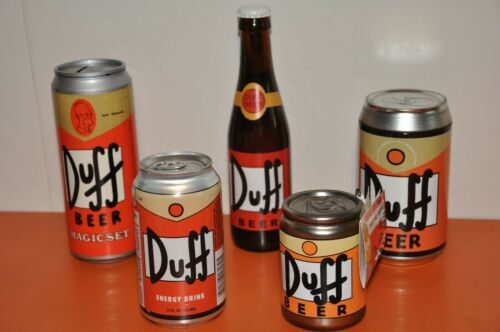 "The SIMPSONS - ""FIVE PIECE DUFF BEER SET""...For ALL YOU DUFF BEER LOVERS!"