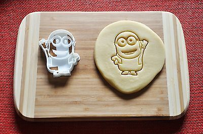 Despicable Me Minion Dave Cookie Cutter Cartoon Biscuit Stamp Topper Fondant