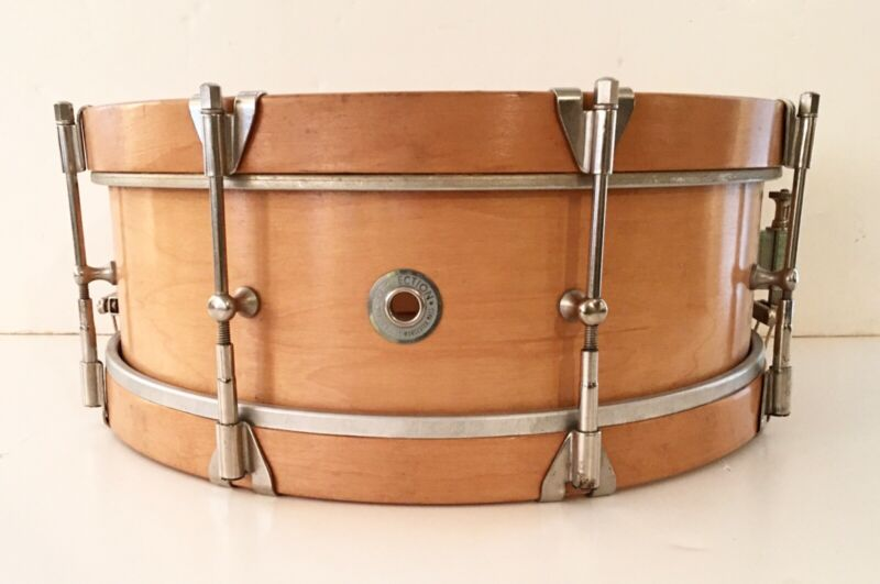 """RARE WALBERG & AUGE WORCESTER, MASS - PERFECTION SNARE DRUM - SIGNED """"RGB 6-64"""""""