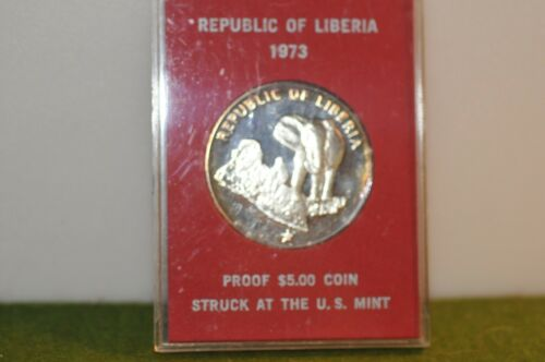 Republic of Liberia $5 Proof 1973 Struck at US Mint