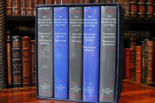 THE PHOTOGRAPHIC HISTORY OF THE CIVIL WAR THE BLUE & GRAY PRESS IN 5 VOLUME SET