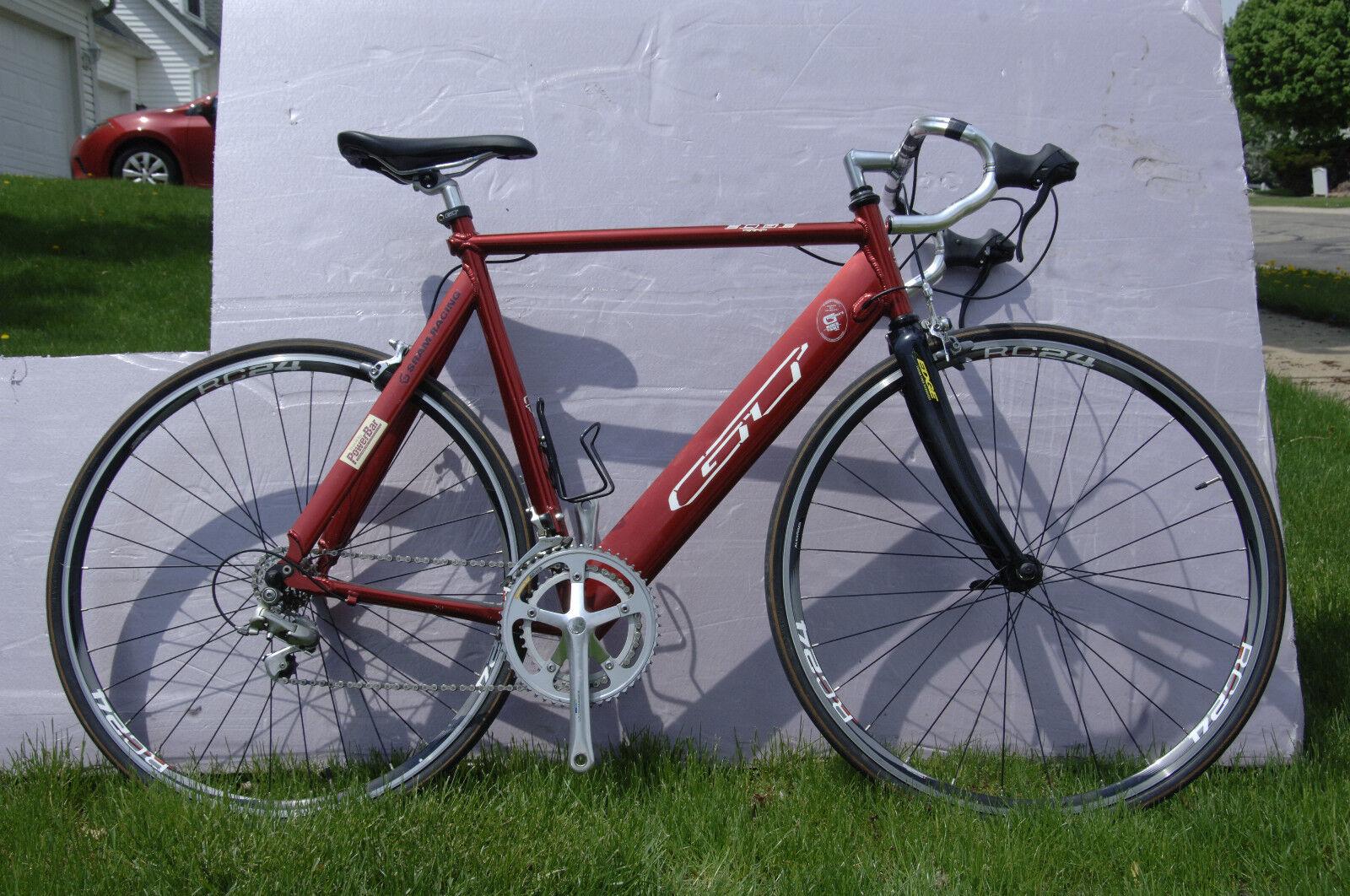 GT Edge Aero Aluminum 56 cm, upgraded, 2x8 gears, Alex R24 clinchers, rebuilt