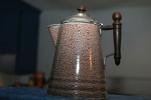 Vintage Graniteware Enamelware Coffee Pot Teapot