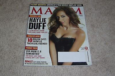 Haylie Duff Cover   7Th Heaven January 2006 Maxim Magazine   Filthy Harrys
