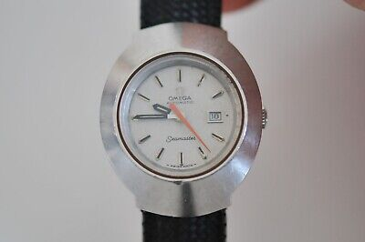 old vintage watch Omega Seamaster orange second hand automatic lady case 32mm