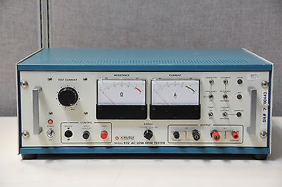 Kikusui 872ac Low Ohm Tester Working Condition Tested 30 Day Warranty