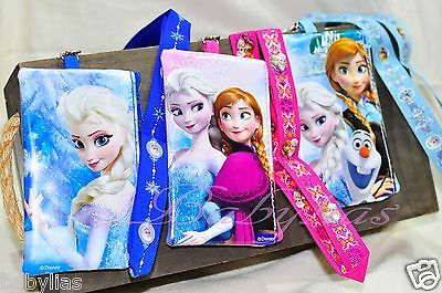 Frozen Lanyard Wallet Purse Fastpass iPhone Ticket Pins ID Badge Holder Disney  - Frozen Purse