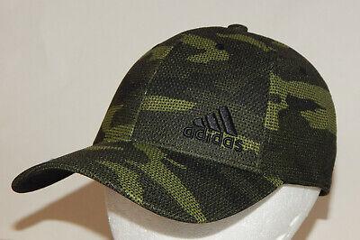 Adidas Men's Release Plus Stretch Fit Hat / Cap Tech Olive Camo S/M or L/XL