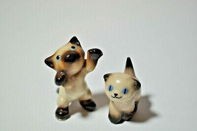 Vintage Hagen Renaker Siamese Kitten Miniatures Figurines Cats Nose Up Hind Legs