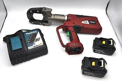 Burndy Patriot Patcut245 Li-ion Hydraulic Cable Wire Cutter Tool 18v Batteries