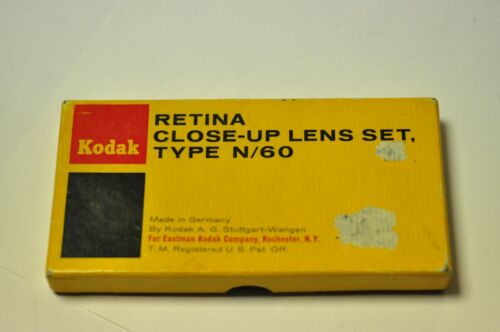 Kodak Retina close-up lens set TypeN/60 for their 50mm f1.9 lens. 58mm thread