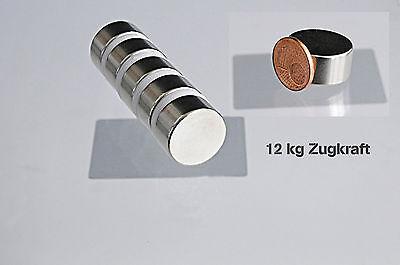 Neodym Magnet 20x10mm 12kg 1 Stk Super starke Magnete Pinnwand Kühlschrankmagnet