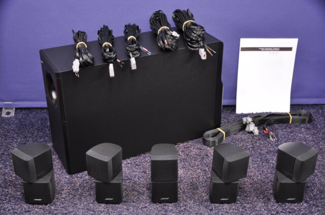 bose acoustimass 10 series ii lautsprecher system ebay. Black Bedroom Furniture Sets. Home Design Ideas