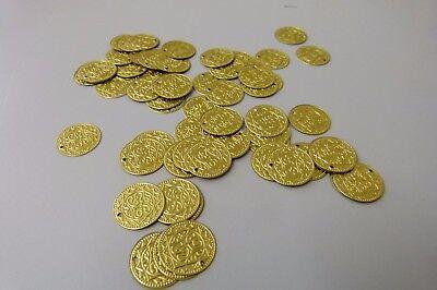 50 Münzen Metall für Bauchtanz-Kostüm Dekoration Schmuck Piraten-Geld - Bauchtanz Kostüm Schmuck