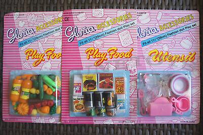 GLORIA DOLL HOUSE FURNITURE Size Vegetable + Fridge Food + Utensil For Dolls